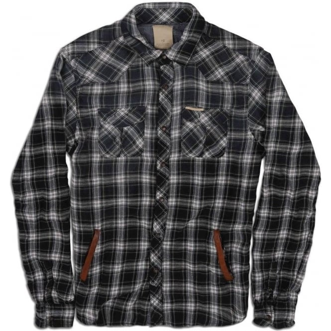 Scotch & Soda Long Sleeve Bonded Check Shirt