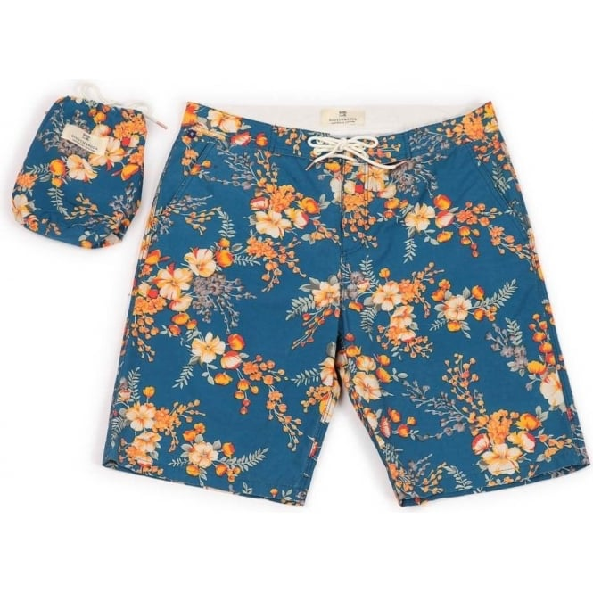 Scotch & Soda Mens Floral Print Swim Shorts