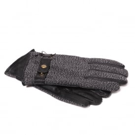 Men's Leather And Wool Gloves