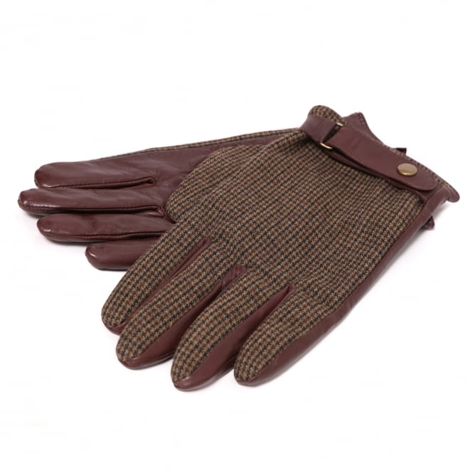 Scotch & Soda Men's Leather Tweed Gloves