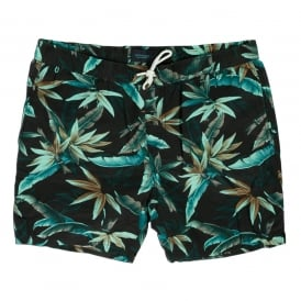 Short Length Palm Print Swim Short, Dessin C