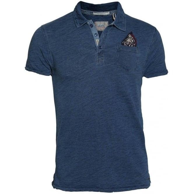 innovatives Design das beste perfekte Qualität Scotch & Soda Short Sleeve Indigo Polo Shirt