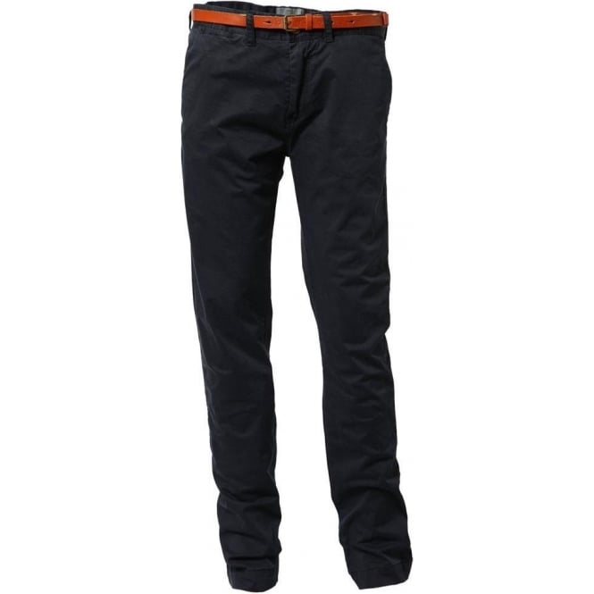 Scotch & Soda Slim-Fit Chino Pant with Leather Belt