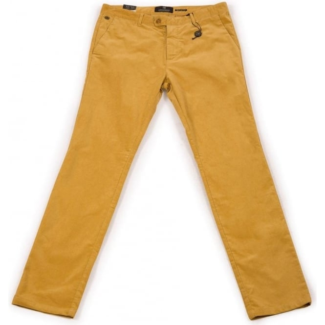 Scotch & Soda Slim-Fit Fine Corduroy Chino (Saffron)