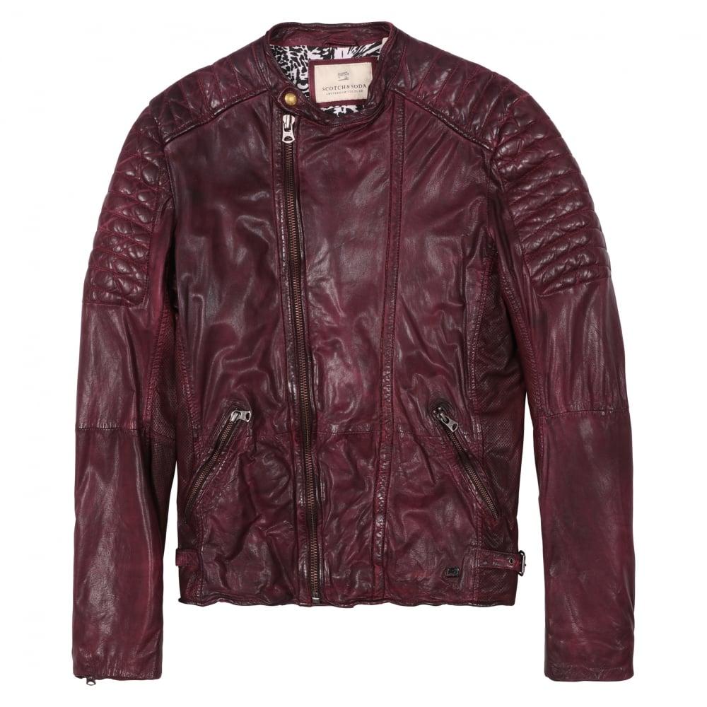 scotch soda sturdy leather biker jacket fussy nation. Black Bedroom Furniture Sets. Home Design Ideas