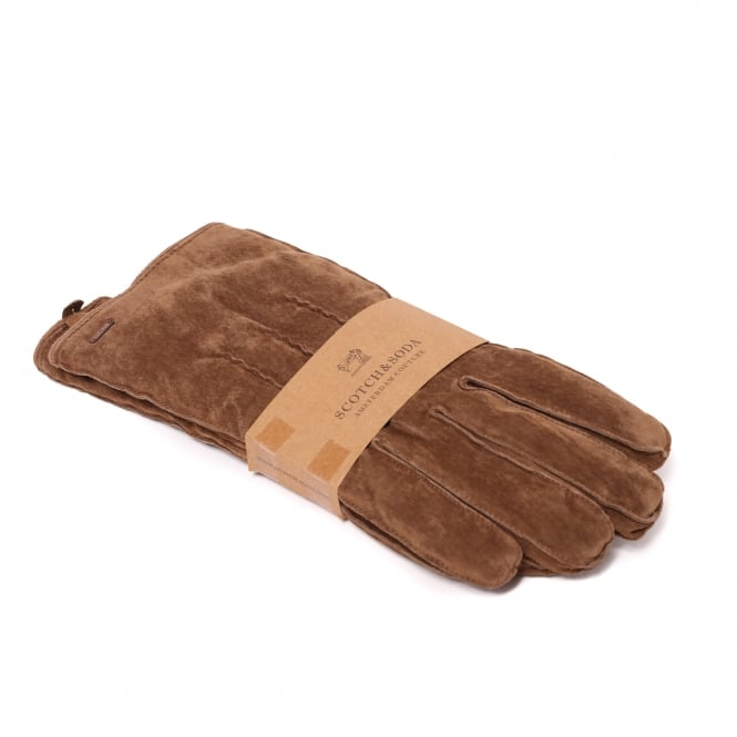 Scotch & Soda Suede Lumber Jack Gloves