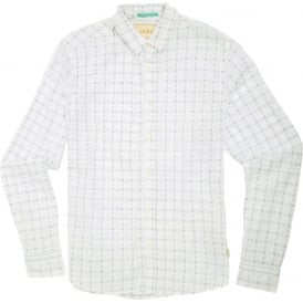 Window Check Shirt, White