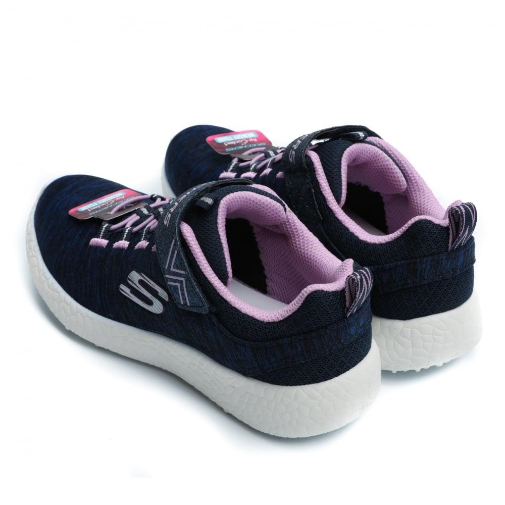 Skechers Burst Equinox Girl's Sneaker, Navy / Lavender
