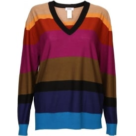 Colour Block Wool Jumper