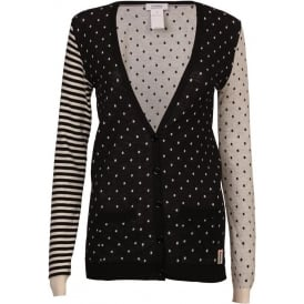 Polka Dot Striped Cardigan