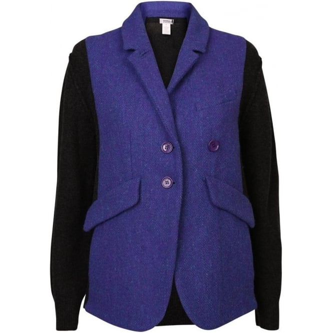 Sonia By Sonia Rykiel Vest Tweed Smoking Blazer