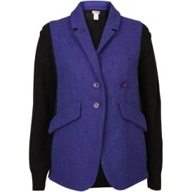 Vest Tweed Smoking Blazer