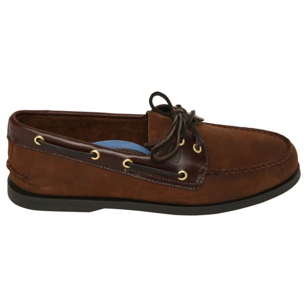Mens Leather Brown Buck Shoe