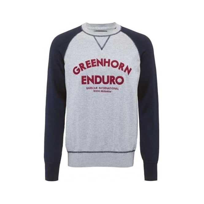 The Barbour Steve McQueen™ Collection Enduro Crew Neck, Navy