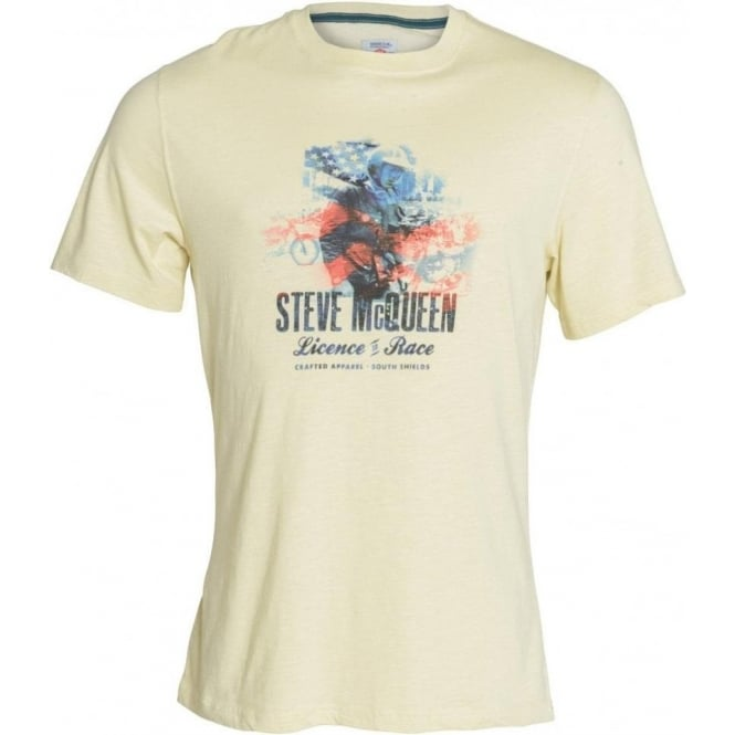 The Barbour Steve McQueen™ Collection Short Sleeve Finished Line Graphic Print Tee, Ecru