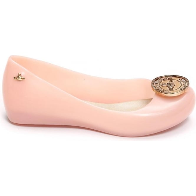 Vivienne Westwood Anglomania for Melissa VW Ultragirl II Orb Coin Ballet Pump